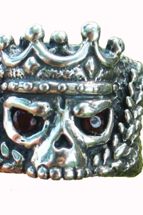 King's Skull Silver Ring