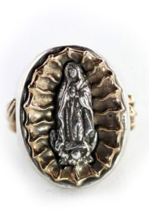 Our Lady of Guadalupe Two Tone Sterling Silver & Bronze Ring