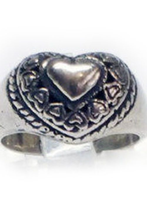 Cute Heart Silver Ring V1 Small