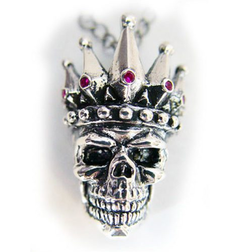 Kings Of King Skull Silver Pendant