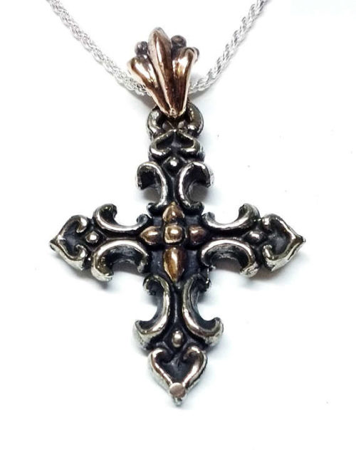 Love Cross Silver Pendant 3 image