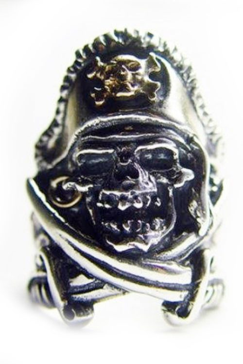 Pirate Skull Silver V5 Silver Ring