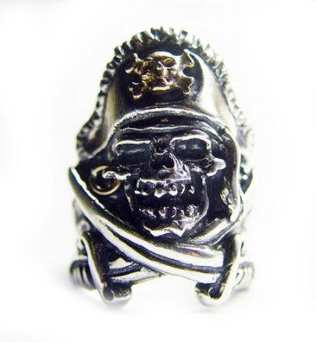 Pirate Skull Silver V5 Silver Ring