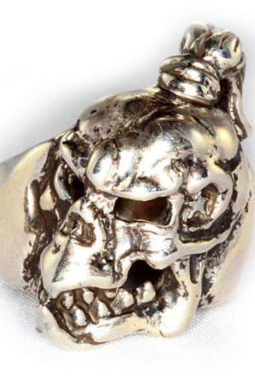 Sharp Teeth Sterling Silver Ring
