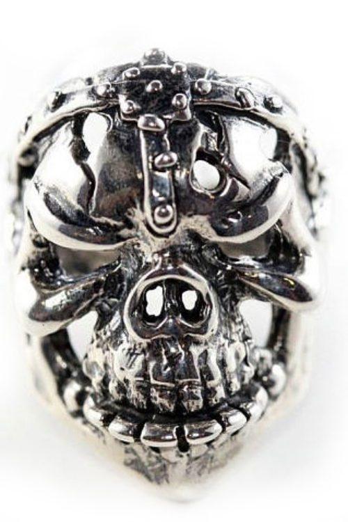 Gargo Skull Sterling Silver Ring