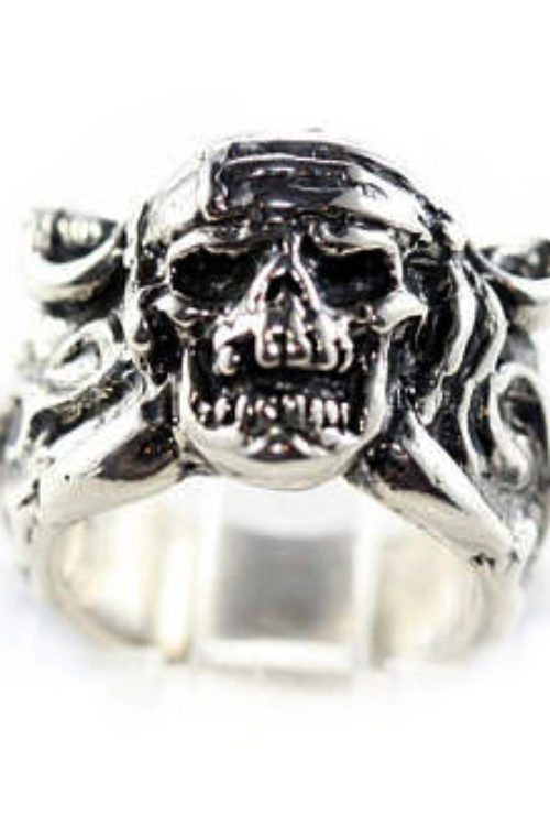 Small Pirate Sterling Silver Ring