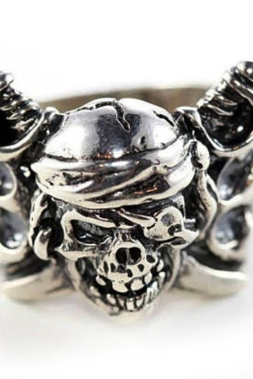 18th Century Pirate Sterling Silver Ring