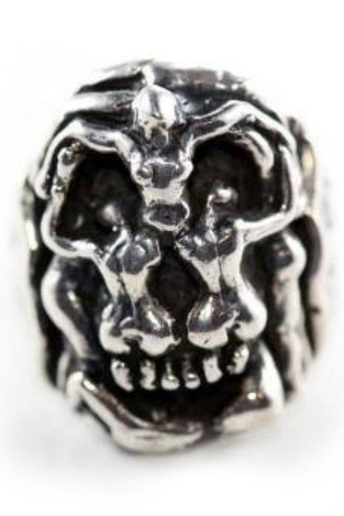 Salvador Dali Silver Skull Ring