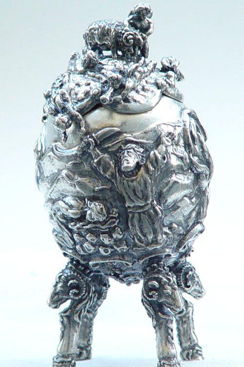 Abraham Sterling Silver Egg