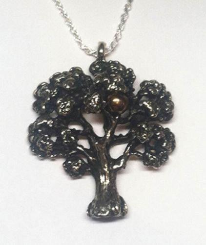 Adams Tree In Heaven Silver Pendant
