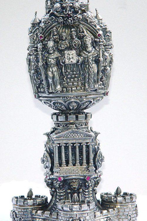 Armenian Historical Sterling Silver Egg