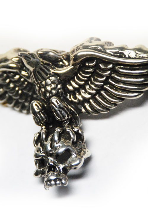 Eagle Carrying Skull Silver Pendant
