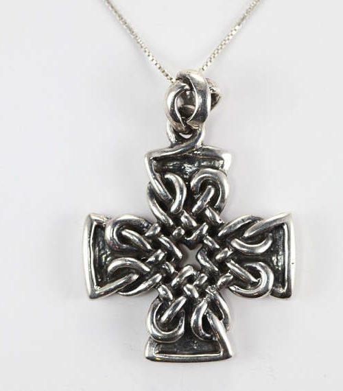Energy Cross Sterling Silver Pendant