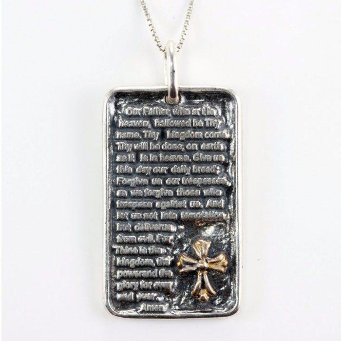 Lord's Prayer Dog Tag Pendant