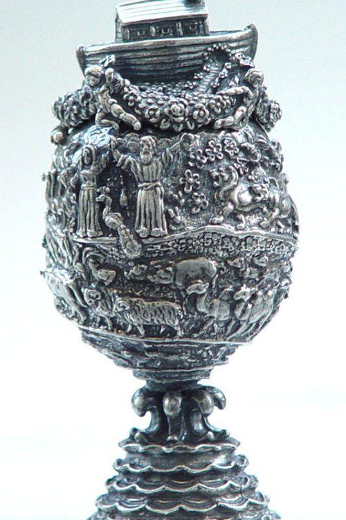 Noah's Ark Sterling Silver Egg
