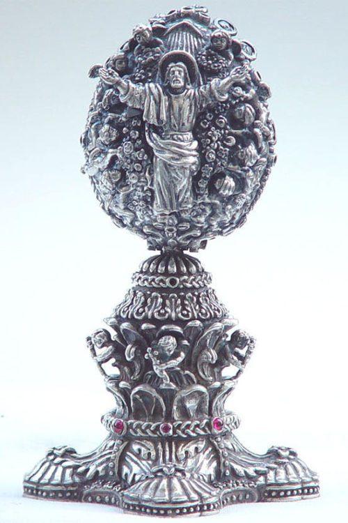 The Resurrection of Jesus Sterling Silver Egg