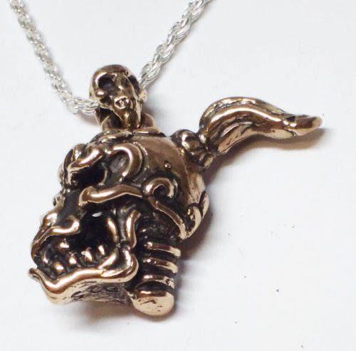 Warrior Skull Silver Pendant