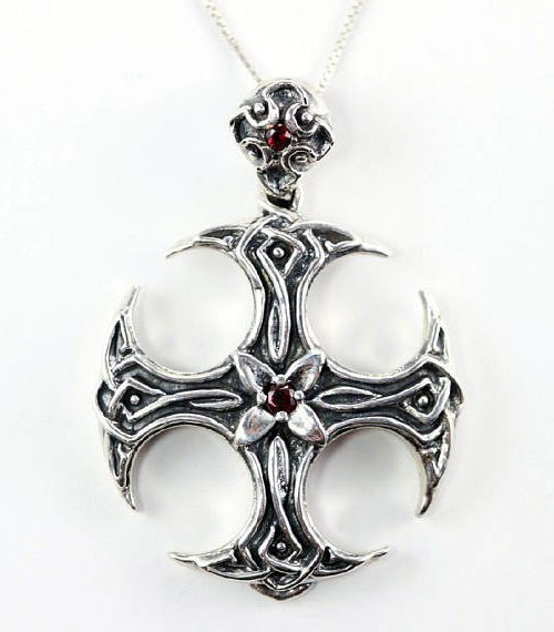 X Cross Sterling Silver Pendant