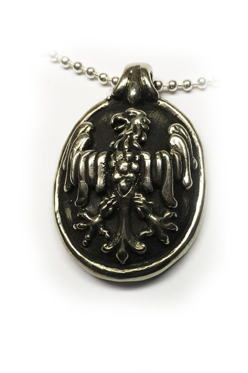 Eagle Shield Sterling Silver Pendant