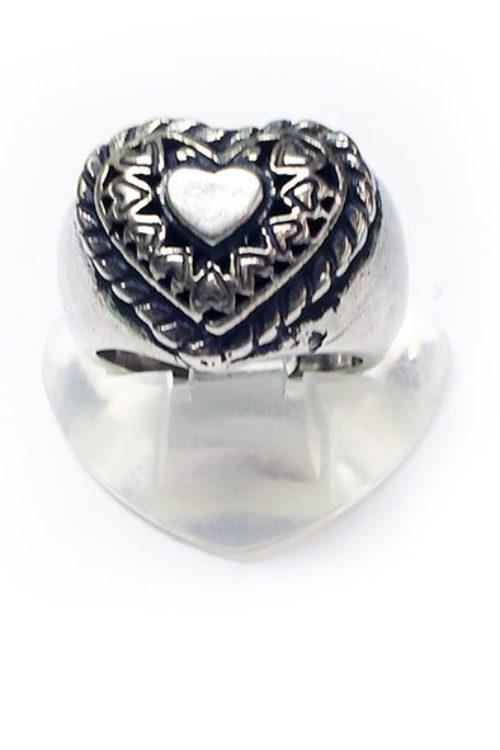 Cute Heart Silver Ring v2