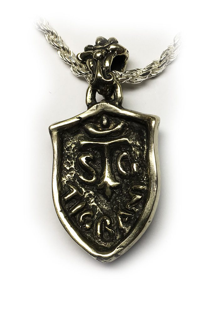 Lion Shield Sterling Silver Pendant 2