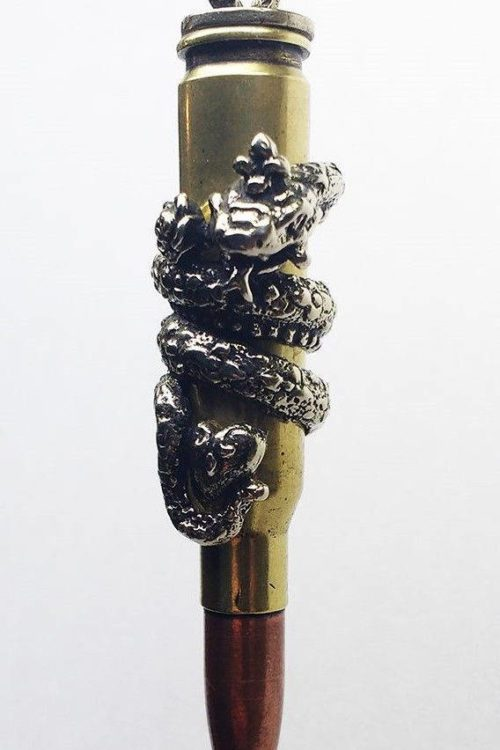 """Zodiac Love Bullet """"Snake"""" Silver Pendant"""