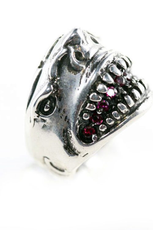 Shark Teeth Sterling Silver Ring
