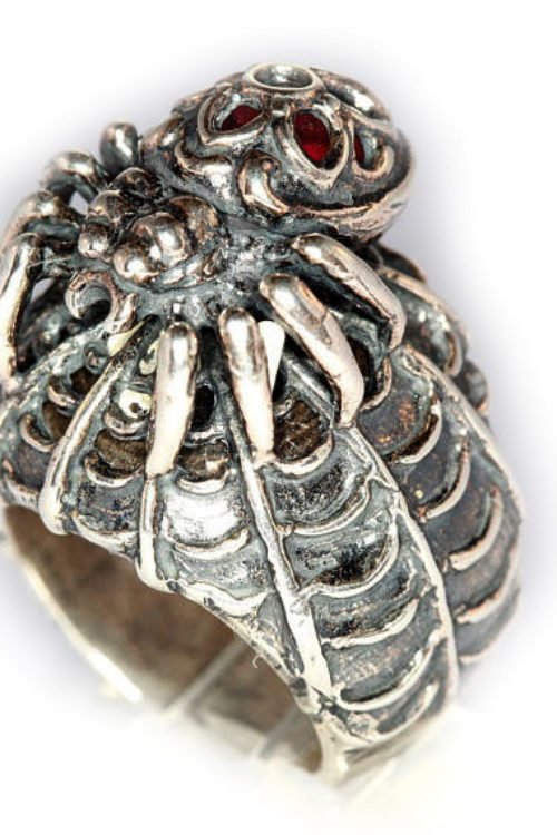 Black Widow Sterling Silver Ring