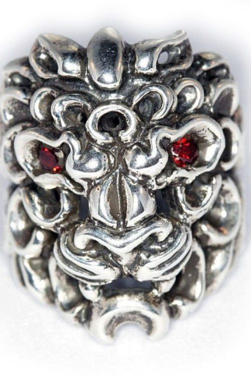 Tribal Lion Sterling Silver Ring