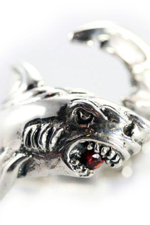 Shark Sterling Silver Ring
