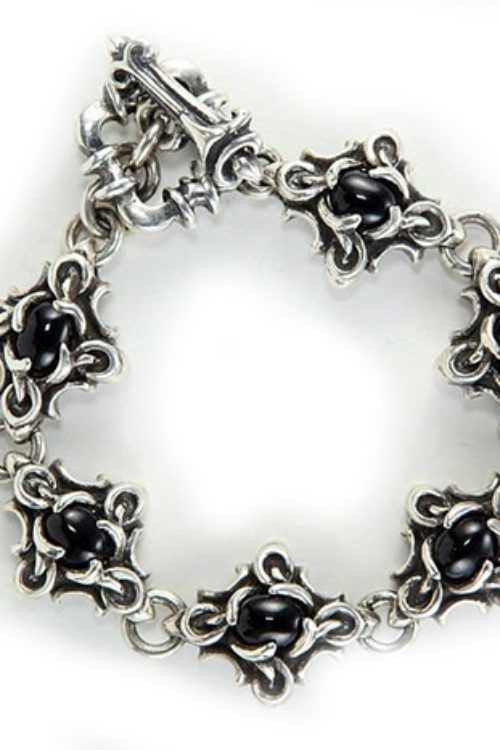 Sterling Silver Genuine Midnight Sapphire Bracelet
