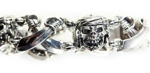 18th Century Sterling Silver Pirate Charm Bracelet