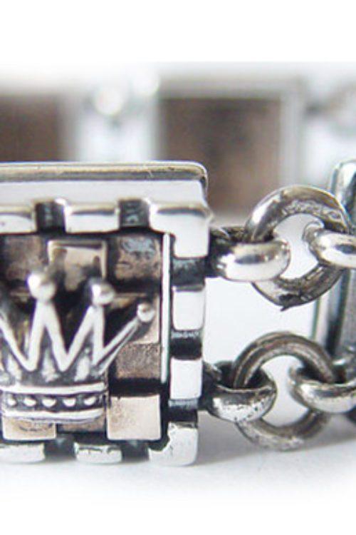 Chess Board Sterling Silver & Bronze Bracelet