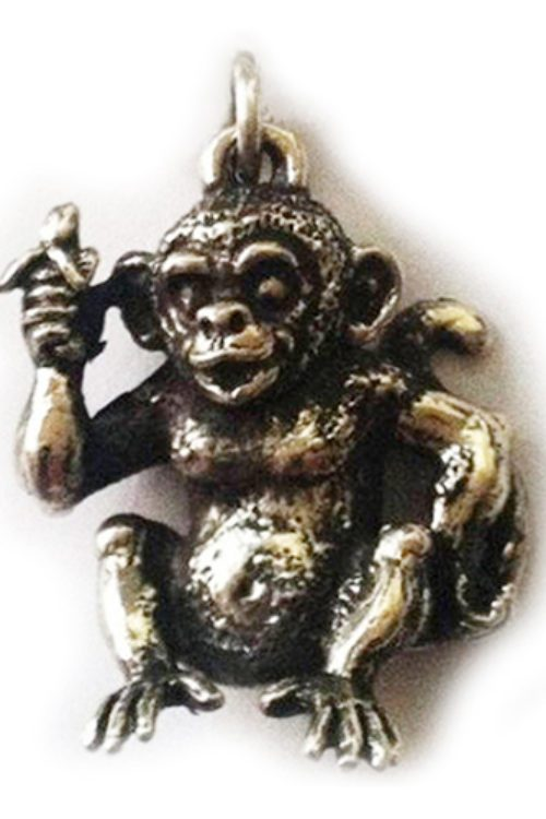 Monkey Monkey Silver Pendant