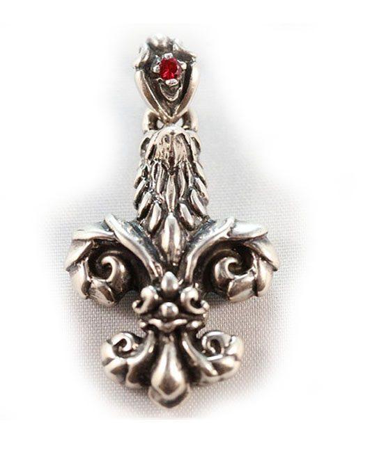 Eagle Fleur De Lee Sterling Silver Pendant