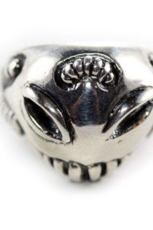 Sterling Silver Alien Ring