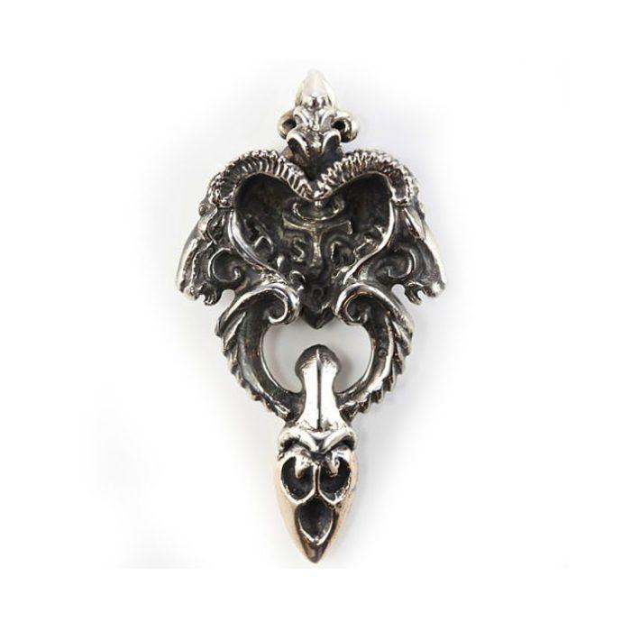 Ram Head Sterling Silver Pendant 2