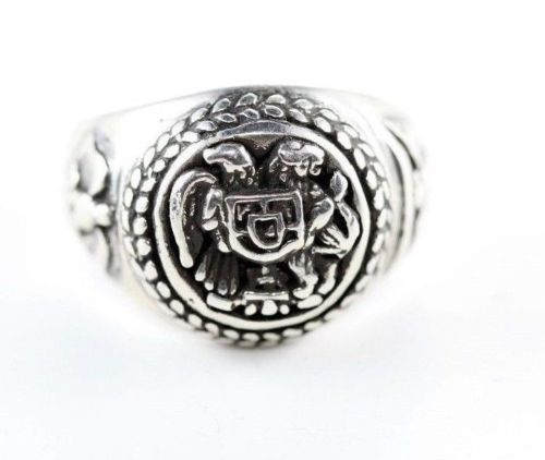 Armenian Coat of Arms Sterling Silver Ring