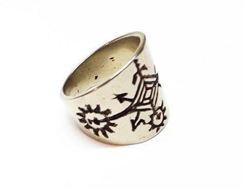 Armenian Symbol Of The Solar System Silver Ring