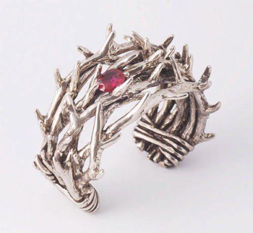 Bushes Crown Silver Bracelet