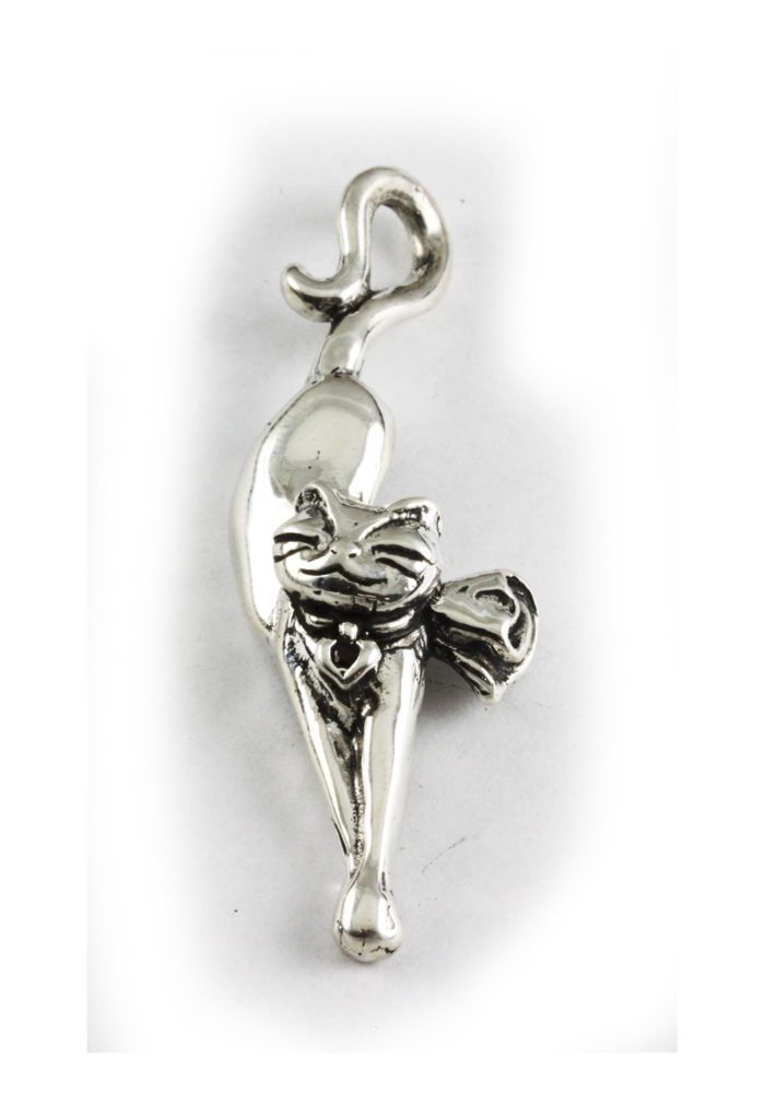 Happy Cat Sterling Silver Pendant