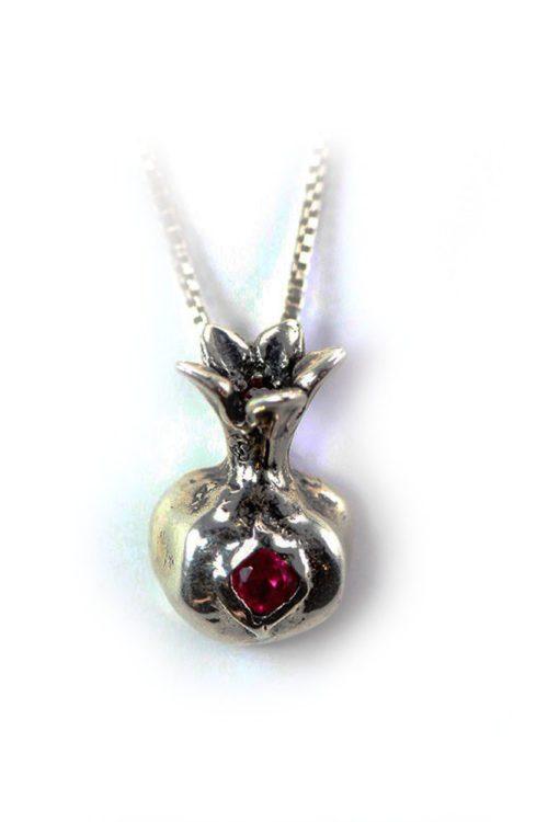 Pomegranate Sterling Silver Pendant V2