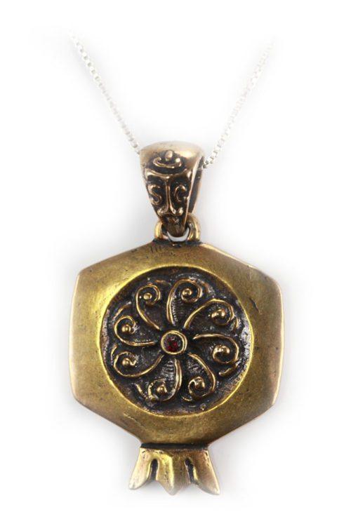 Bronze Pomegranate Pendant V1
