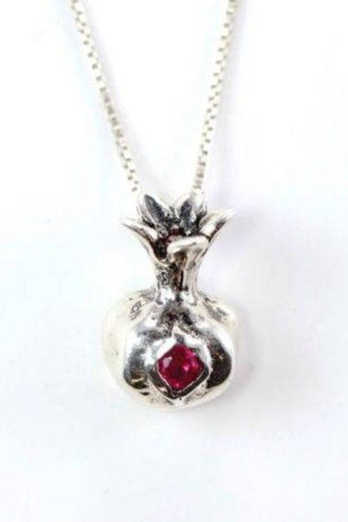 Pomegranate Sterling Silver Pendant V1