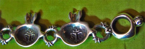 Sterling Silver Pomegranate V2 Charm Bracelet 2