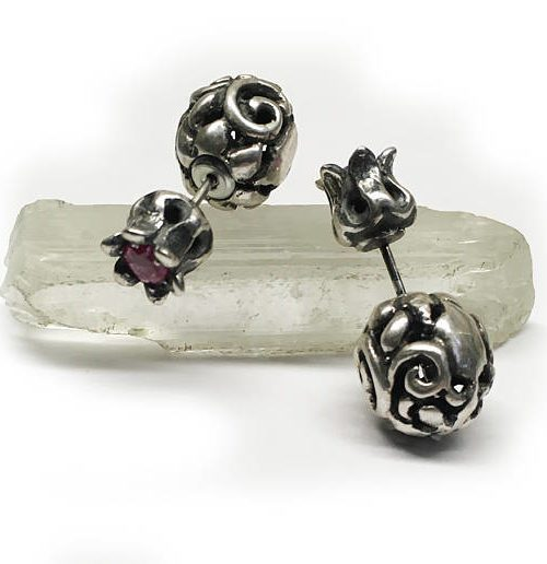 Tribal Pomegranate Earring with Stone