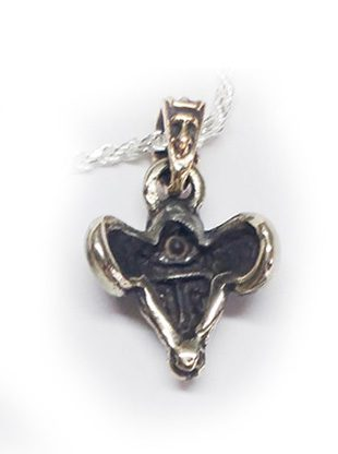 The Ram Silver Pendant with Sapphire V1 Big 3