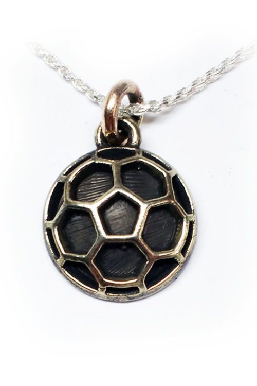 Soccer Ball Silver Pendant