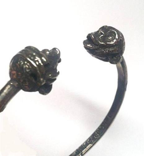 Chimps Head Silver Bracelet