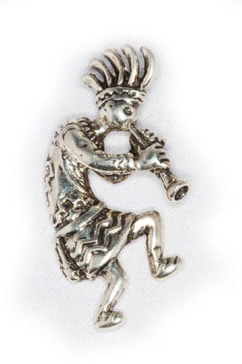 Kokopelli Sterling Silver Pendant
